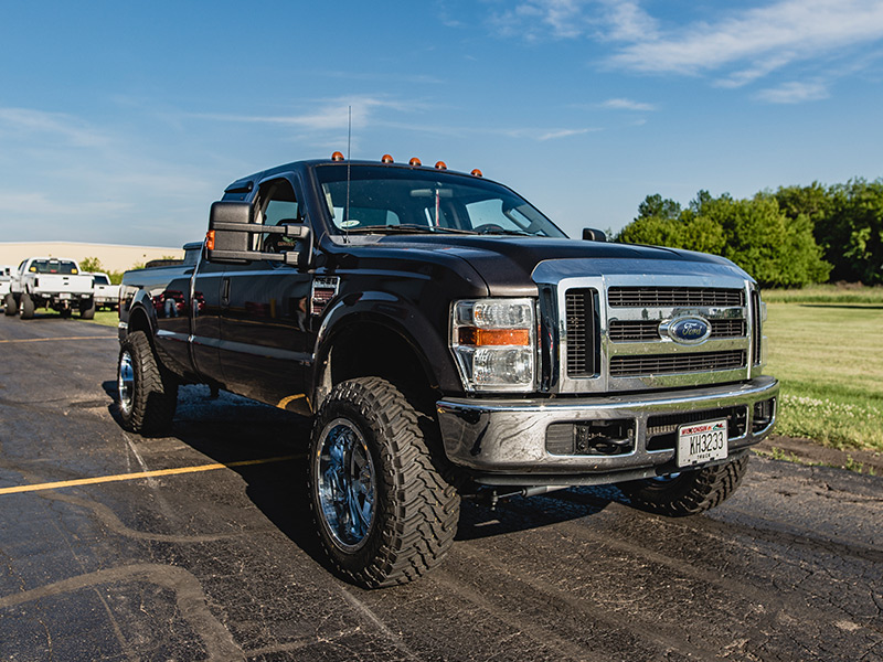 2008 ford f 250 super duty 20x12 gear alloy wheels 35x12 5r20 atturo tires rough country 2. Black Bedroom Furniture Sets. Home Design Ideas