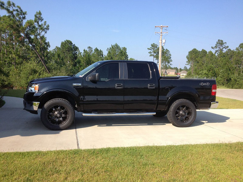 ford f150 with 2 inch leveling kit fuel offroad octane d509 20x9 20 by 9