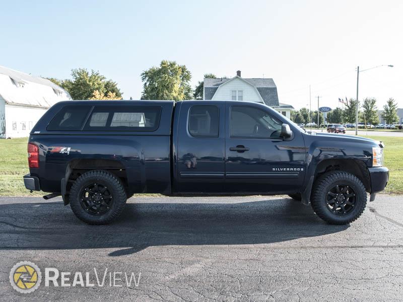 2009 Chevrolet Silverado 1500 18x9 Black Rhino Wheels