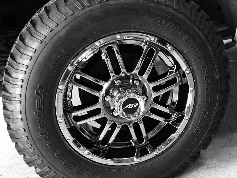 2009 chevrolet silverado 1500 18x9 american racing wheels 285 65r18 bfgoodrich tires 2 inch. Black Bedroom Furniture Sets. Home Design Ideas