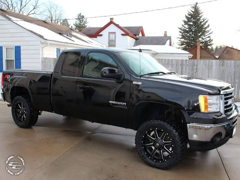 2012 gmc sierra 1500 with 20x9 fuel offroad lt285 55r20 toyo. Black Bedroom Furniture Sets. Home Design Ideas