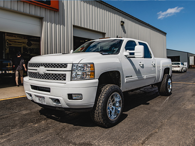 305 55r20 In Inches >> 2013 Chevrolet Silverado 2500 HD - 20x12 Hostile Wheels 305/55R20 Nitto Tires Rough Country 1.5 ...