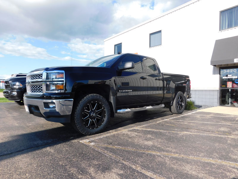 Chevrolet Silverado With Inch Leveling Kit Fuel Offroad Maverick D X By Offset Wheels Nitto Terra Grappler G Tires Pic
