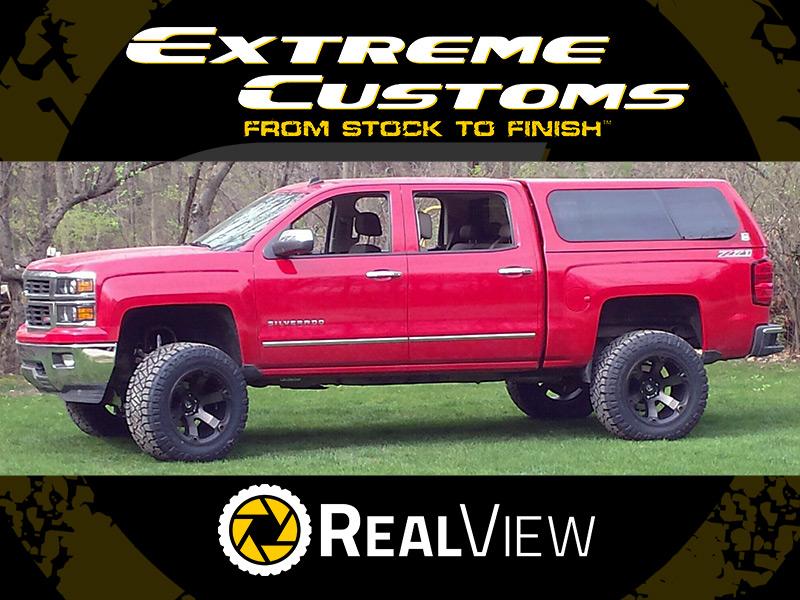 2014 Chevrolet Silverado 1500 - 20x12 Fuel Offroad Wheels 35x13.5R20 Nitto Tires 6.5-inch ...