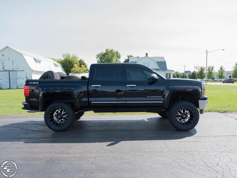 2014 Chevy Silverado Lifted >> 2014 Chevrolet Silverado 1500 20x10 Dropstars Wheels 35x12