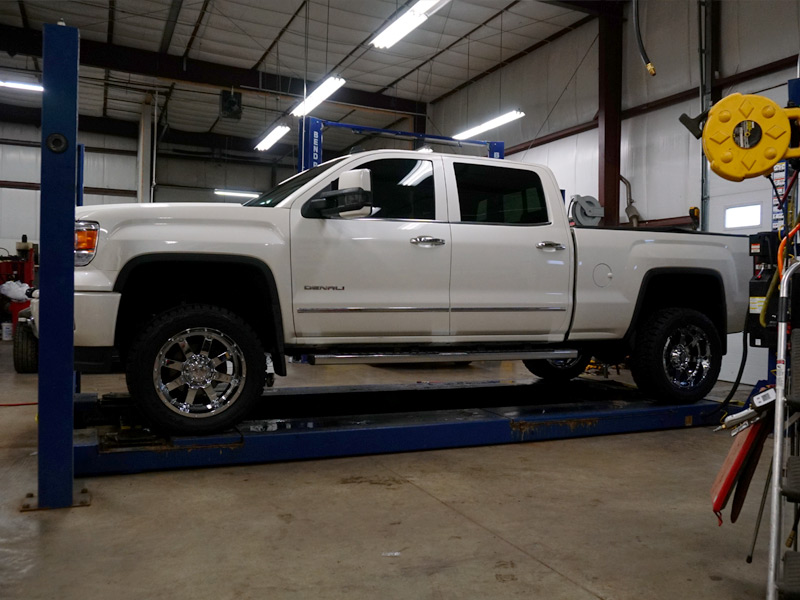 Gmc Sierra With Inch Lift Kit Gear Alloy Big Block X Offset By Inch Wide Wheel Toyo Open Country Rt X R Tires Pic