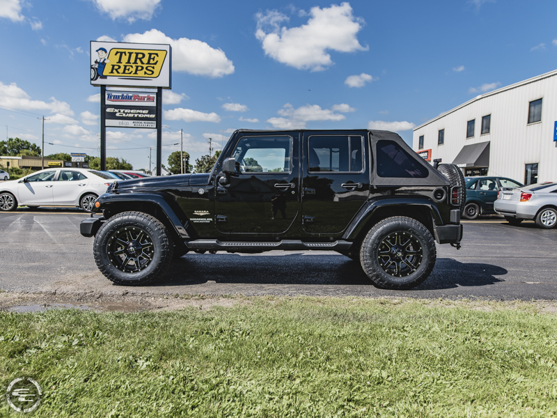 Jeep Wrangler Rims And Tire Packages >> 2014 Jeep Wrangler 18x9 Fuel Offroad Wheels 275 70r18 Nitto Tires