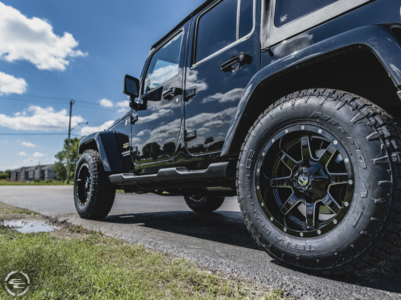 2014 Jeep Wrangler 18x9 Fuel Offroad Nitto Lt275 70r18