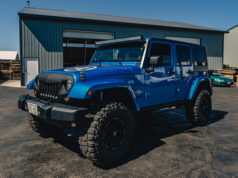 Jeep Wrangler 4 Door Price >> 2014 Jeep Wrangler - 16x8 Raceline Wheels 315/75R16 Nitto Tires Rough Country 4-inch Suspension ...