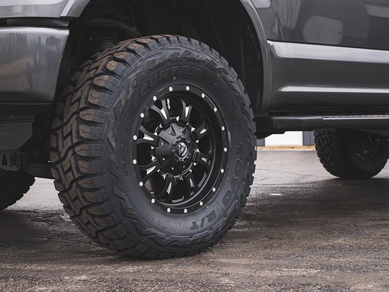 2015 ford f 150 18x9 fuel offroad wheels 35x12 5r18 toyo tires 6