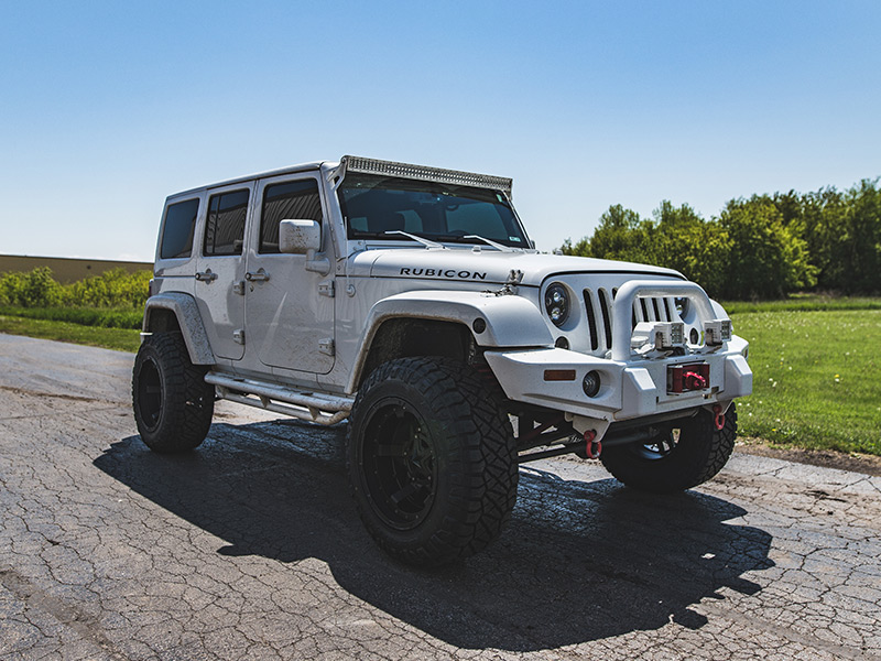 Good 2015 Jeep Wrangler Rubicon With 4 Inch Lift Kit Xd Series Rockstar Iii  20x12 44 Offset