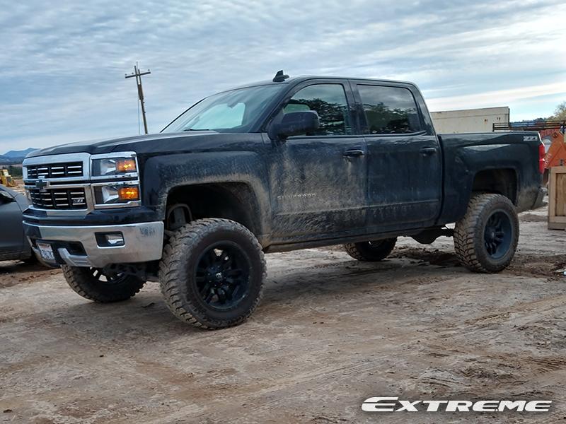 2015 Chevy Silverado Lifted >> 2015 Chevrolet Silverado 1500 20x12 Fuel Offroad Wheels 35x12 5x20