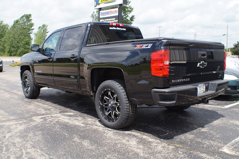 2016 Chevrolet Silverado 1500 Fuel Lethal D567 20x9 20 By 9 +20 Offset Wheels Nitto Terra Grappler G2 275 55 20 Tires