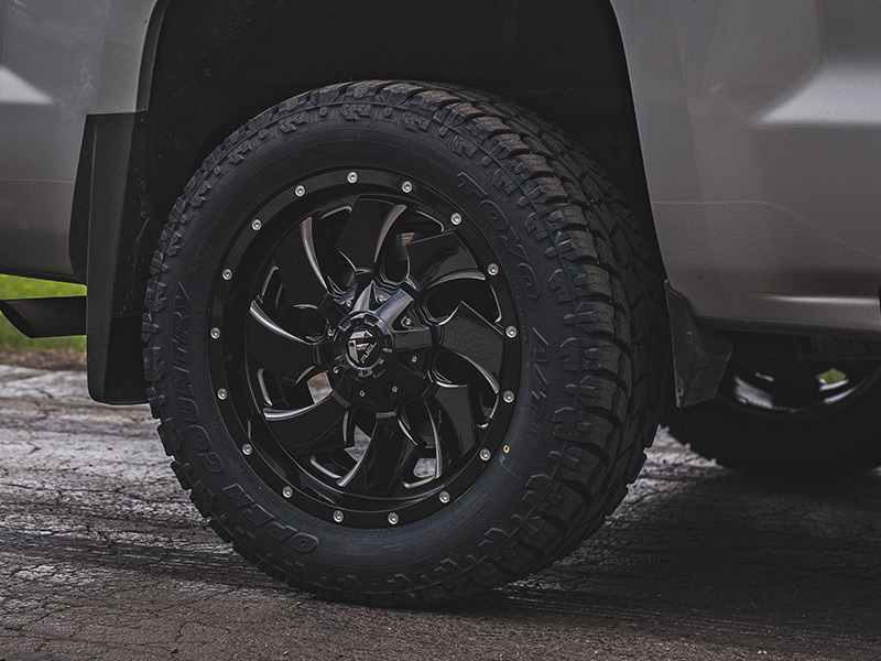 2016 Chevy Silverado 1500 2 Inch Leveling Kit Rough Country Fuel Offroad Cleaver 20x9 +1 Offset 20 By 9 Inch Wide Wheel Toyo Open Country At Ii 285 55r20 Tire