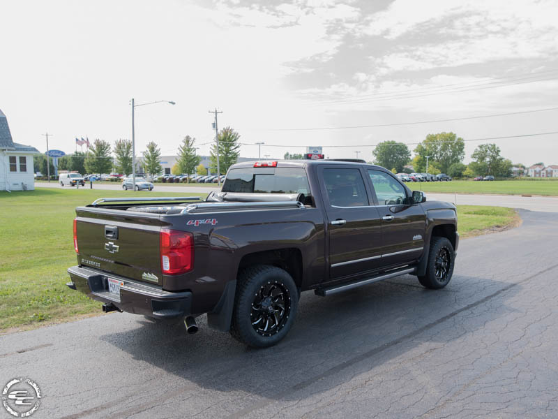 2016 Chevy Silverado 1500 With Fuel Offroad Cleaver D574 20x9 20 By 9 Inch Wide Wheel +1 Offset Toyo Open Country At Ii 275 55r20 Tire