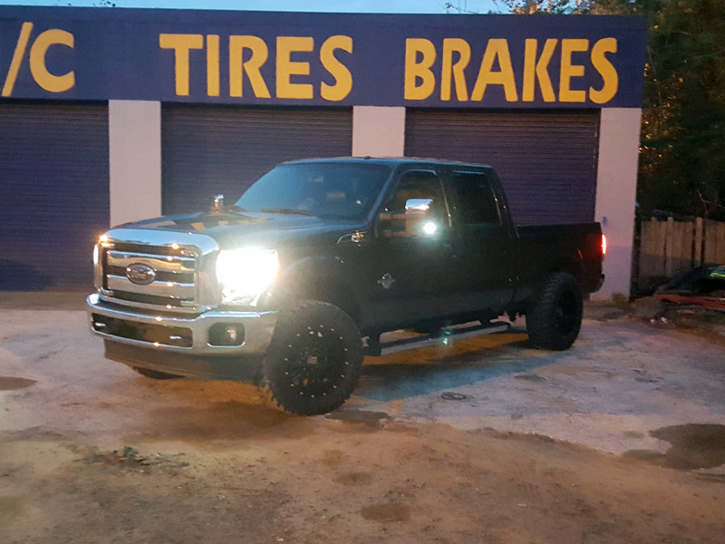 2016 Ford F 250 With Xd Series Xd820 20x10  24 Offset 20 By 10 Inch Wide Wheels Atturo Trail Blade Mt Lt35x12 5r20 Tires