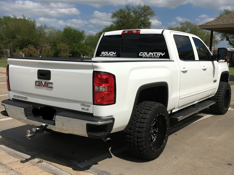 2016 Gmc Sierra 1500 With 3 Inch Lift Kit Fuel Offroad Throttle Deep 20x12  44 Offset 20 By 12 Inch Wide Wheel Federal Couragia Mt 33x12 5r20 Tire