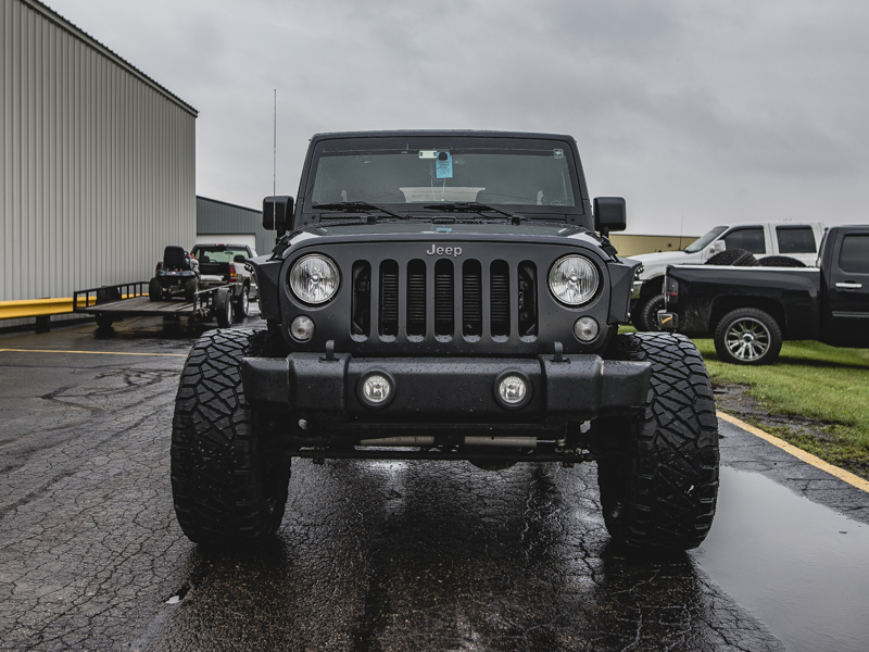 2016 Jeep Wrangler With 4 Inch Lift Kit Fuel Offroad Hostage 20x10  12 Offset 20 By 10 Inch Wide Wheel Nitto Ridge Grappler 35x13 5r20 Tire