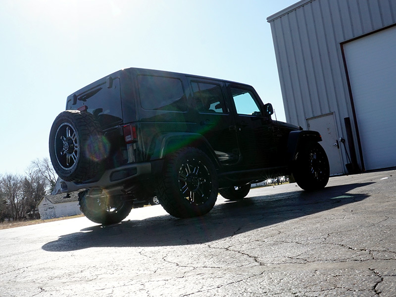 2016 Jeep Wrangler With Gear Alloy Challenger 20x9 +00 Offset Wheels Toyo Open Country Rt 33x12 50r20 Tires Vision X 15 Inch Fog Lights