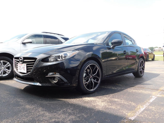 2013 Mazda 3 18x8 Foose Wheels 215 45zr18 Uniroyal Tires