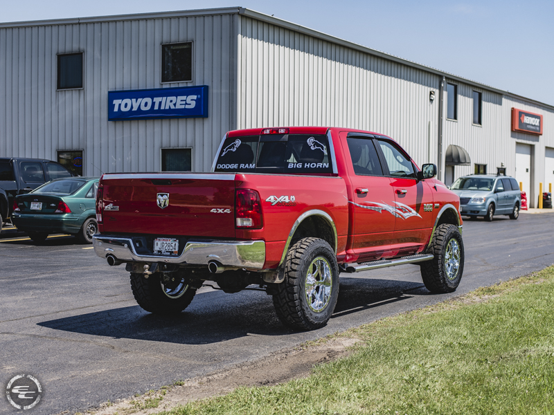 2016 Ram 1500 With 6 Inch Rough Country Lift Kit N2 0 Struts N2 2 Rear Shocks Fuel Offroad Maverick 20x10  24 Offset Toyo Open Country Rt 37x12 5r20 Tire