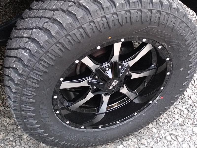 2016 Ram 2500 With 3 Inch Lift Kit Moto Metal 970 20x9 +0 Offset 20 By 9 Inch Wide Wheel Atturo Trail Blade Xt 35x12 5r20 Tire
