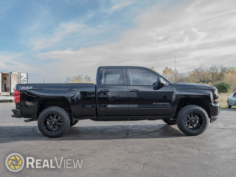2.5 Leveling Kit >> 2017 Chevrolet Silverado 1500 - 18x10 Moto Metal Wheels 285/65R18 Atturo Tires Rough Country 2.5 ...