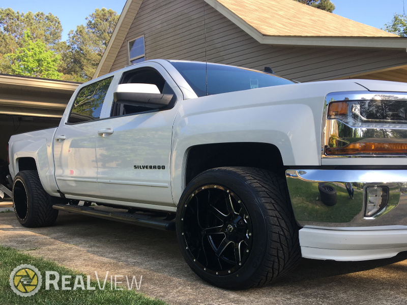 2017 Chevrolet Silverado 1500 - 22x12 Fuel Offroad Wheels ...