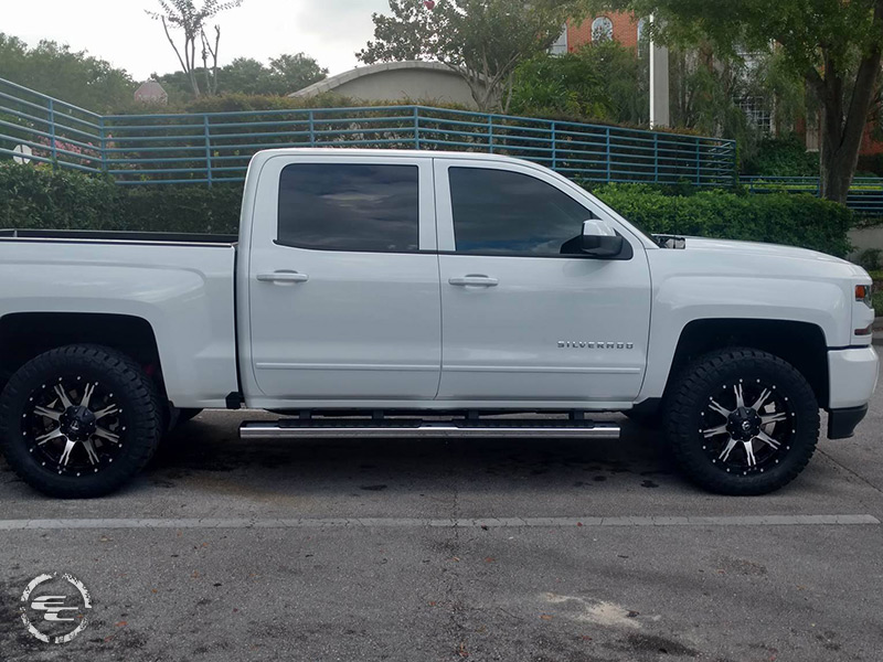 White Silverado Black Rims >> 2017 Chevrolet Silverado 1500 - 20x9 Fuel Offroad Wheels 295/55R20 Nitto Tires