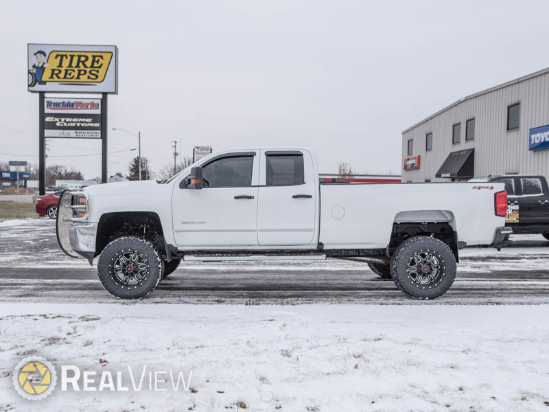 2017 Chevy Silverado 2500hd With 6 Inch Bds Lift Kit Rbp Tactical 20x9  12 Offset 20 By 9 Inch Wide Wheel Nitto Ridge Grappler Mt 35x12 5r20 Tire