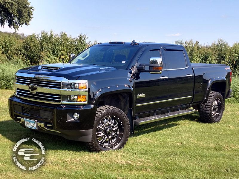 2017 Chevy Silverado 3500hd Leveling Kit Sota Offroad Rehab 564dm 20x9 +0 Offset Cooper Discoverer Stt Pro 295 55r20 Tire