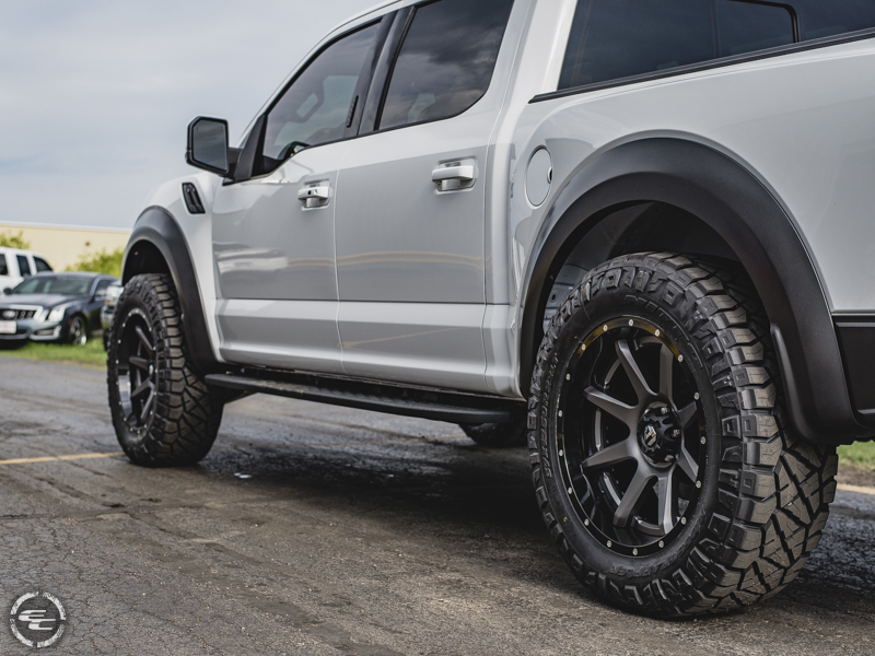 2017 Ford F 150 Raptor With Rpg Offroad Leveling Kit Fuel Offroad Rampage D238 22x10  11 Offset 22 By 10 Inch Wide Wheel Nitto Ridge Grappler 37x12 5r22 Tire 0