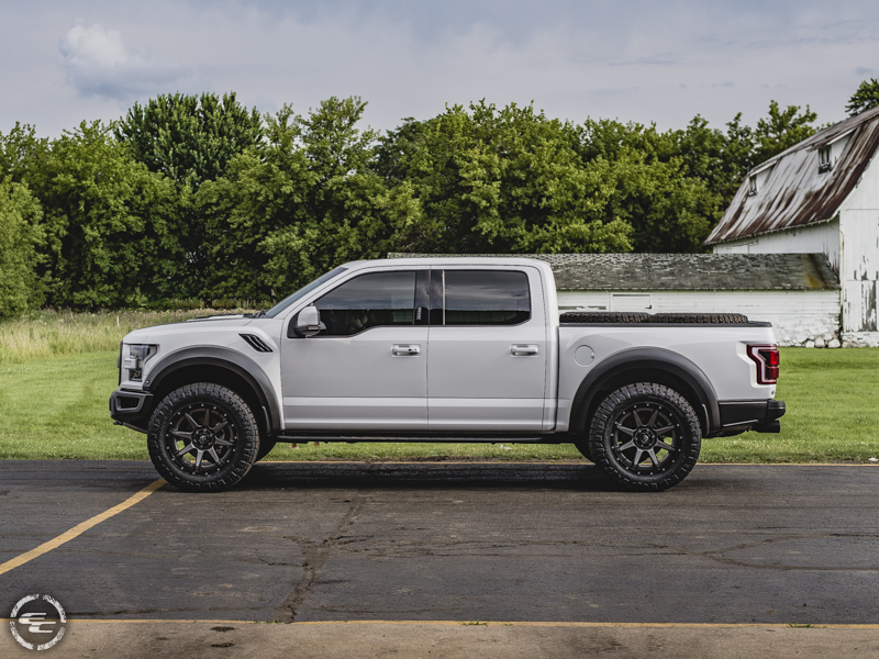 2017 Ford F 150 Raptor With Rpg Offroad Leveling Kit Fuel Offroad Rampage D238 22x10  11 Offset 22 By 10 Inch Wide Wheel Nitto Ridge Grappler 37x12 5r22 Tire
