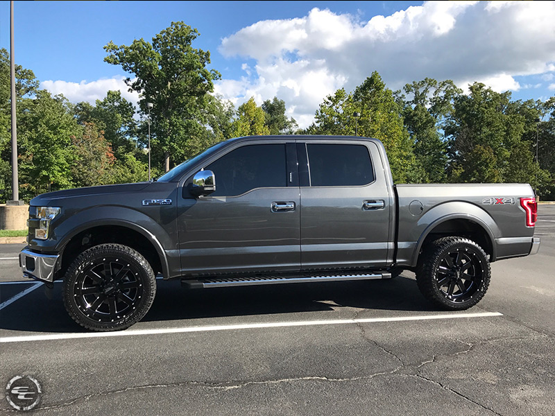 2017 Ford F 150 With 2 Inch Leveling Kit Moto Metal 962 Mo962b 22x10 22 By 10 Inch Wide Wheel  18 Offset Atturo Trail Blade Xt 305 45r22 Tire