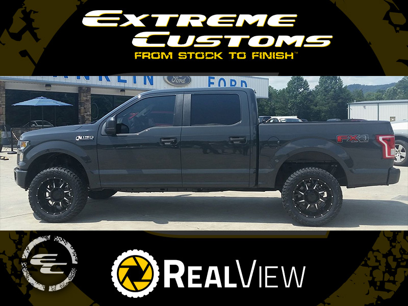2017 Ford F 150 With 2 Inch Rough Country Leveling Kit Gear Alloy Kickstand 742bm 20x10  25 Offset Amp Terrain Gripper At G 285 55r20 Tire