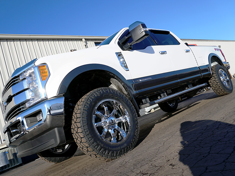 2017 Ford F350 Lariat With Raceline Wheels Assault 20x9  12 Offset 20 By 9 Inch Wide Wheels Nitto Exo Grappler 285 65r20 Tires