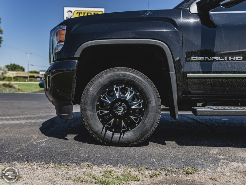 2017 Gmc Sierra 3500hd Denali Dually Fuel Offroad Throttle D513 17x6 5 +129  129 Offset Michelin Ltx At2 235 80r17 Tire