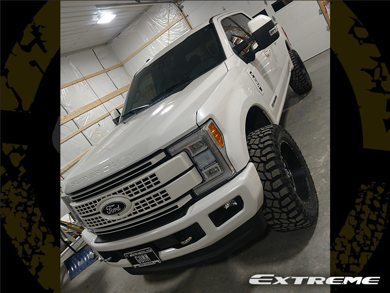 2017 Ford F250 Xd 820 Brushed 22x10 Cooper Stt 37 Proryde Leveled