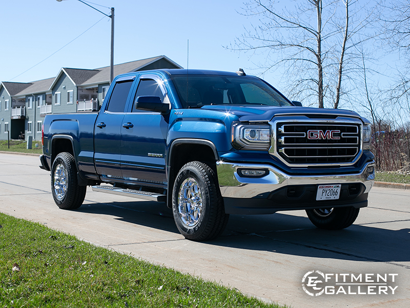 2017 Gmc Sierra 1500 Xd Badlands 18x9  12 Chrome Firestone 275 70r18.