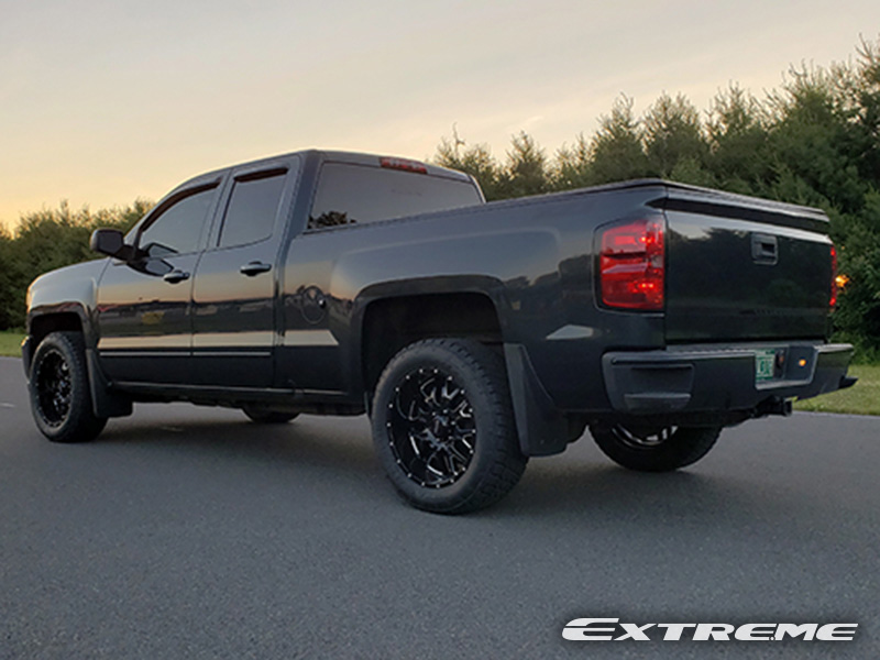 2018 Chevrolet Silverado LT Ultra Hunter 20x9  12 Offset Nitto Terra Grapplers G2 275 55 20 Leveled Rough Country 2 Inches