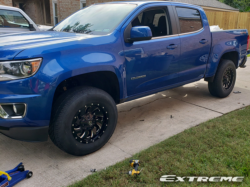 2018 Chevy Colorado Lt 4x4 Fuel Cleaver 17x9 6 Wheels Toyo Open Country Ht 265x70 17 Tires Supreme Lift 3 Inch