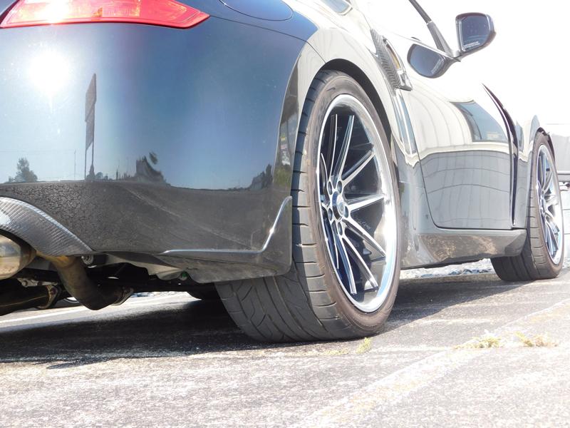 2009 Nissan 370Z - Staggered Asanti Black Label Wheels 275 ...