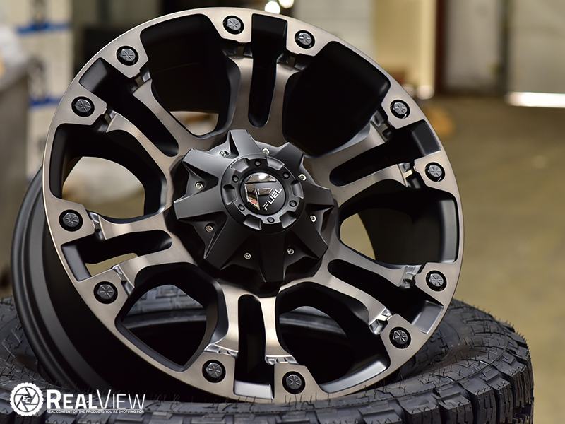 Backspace To Offset >> RealView of Fuel Offroad Vapor D569 Black - 20x9 +35 ...