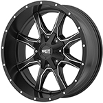 Moto Metal MO970 Satin Black W/ Milled Spokes 18x10 -24