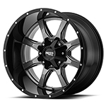 Moto Metal MO970 Gloss Gray W/ Gloss Black Lip 18x10 -24