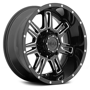 Gear Offroad Challenger 737 Gloss Black W/ Milled Accents