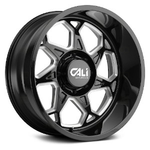 Cali Offroad Sevenfold Gloss Black W/ Milled Spokes