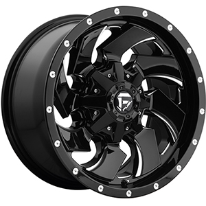 Fuel Cleaver D239 Gloss Black W/ Milled Spokes