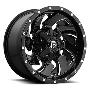 Fuel Cleaver D574 Gloss Black W/ Milled Spokes