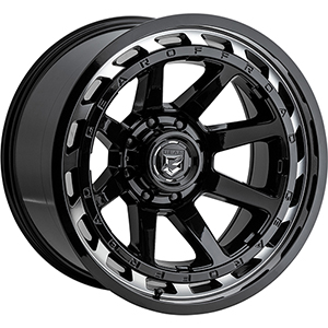 Gear Offroad 754MB Gloss Black W/ Machined Face